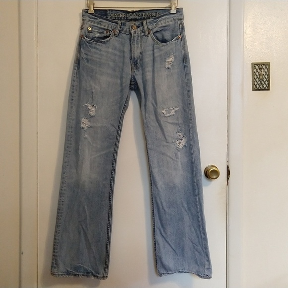 American Eagle Outfitters Other - Mens Low Rise Boot Distressed Jeans American Eagle